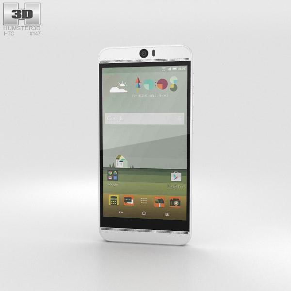 HTC J Butterfly 3 White 3D model