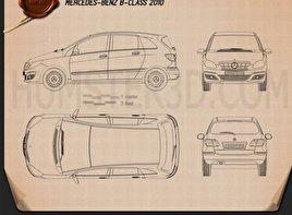 Mercedes-Benz B-Class 2010 Blueprint