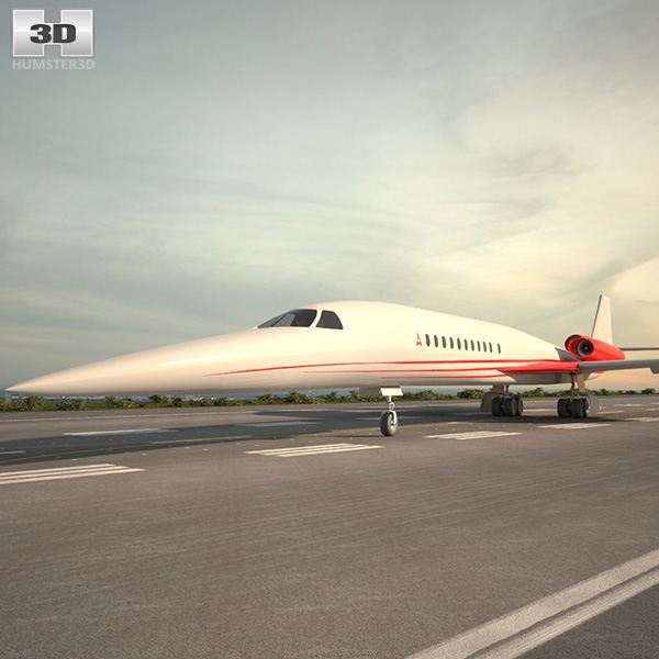 Aerion AS2 Supersonic Business Jet 3D model