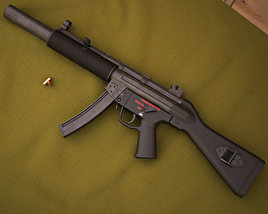 3D model of Heckler & Koch MP5SD