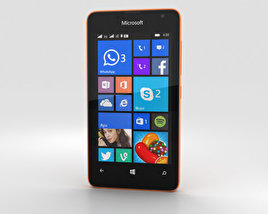 3D model of Microsoft Lumia 430 Orange