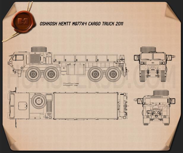 Oshkosh HEMTT M977A4 Cargo Truck 2011 Plan