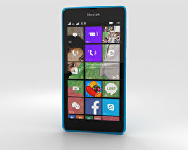 3D model of Microsoft Lumia 540 Blue