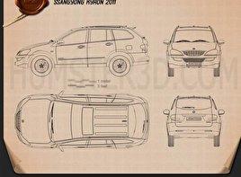 SsangYong Kyron 2011 Blueprint