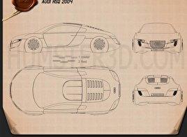 Audi RSQ 2004 Blueprint
