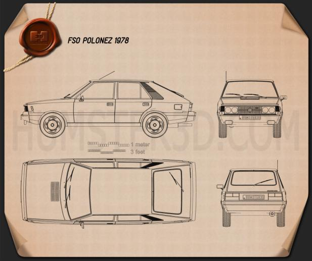 FSO Polonez 1978 Blueprint