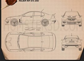 HSV GTS 2012 Blueprint