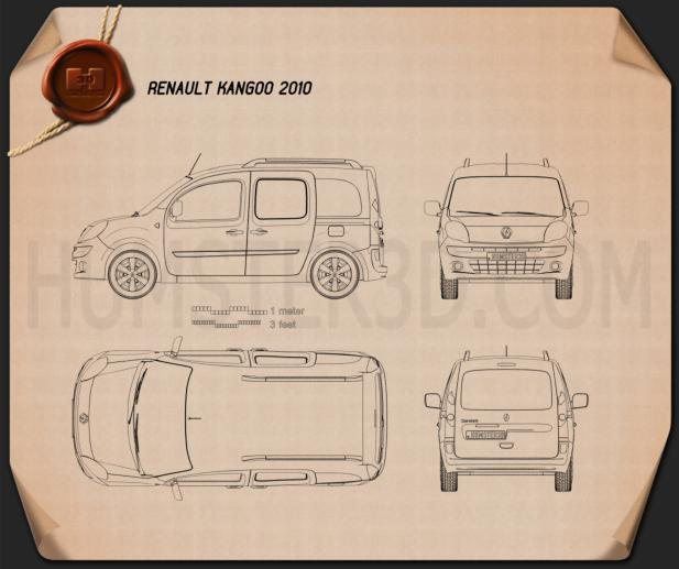 Renault Kangoo 2010 Blueprint