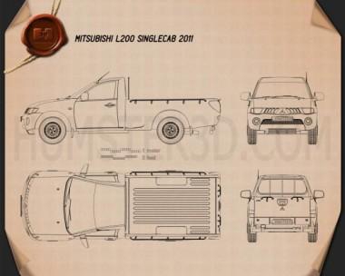 Mitsubishi L200 Triton Single Cab 2011 Blueprint