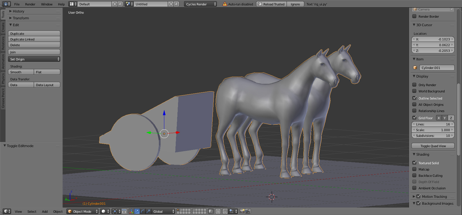 some details for the carriage