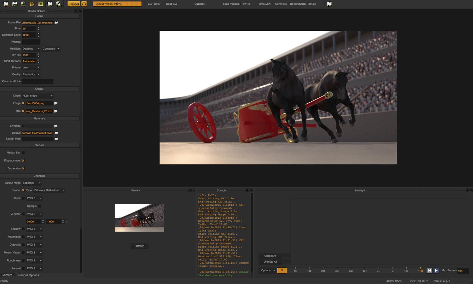 first quick render test