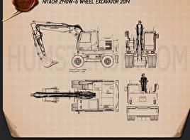Hitachi Z140W-5 Wheel Excavator Blueprint