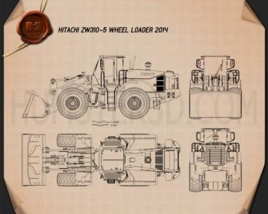 Hitachi ZW310-5 Wheel Loader Blueprint