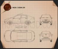 Mazda 2 Sedan 2011 Blueprint