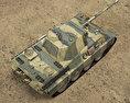 Panther Tank 3d model top view