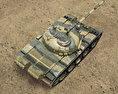 T-55 3d model top view