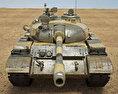 T-55 3d model front view