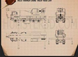 Iveco Trakker Crane Truck 2012 Blueprint