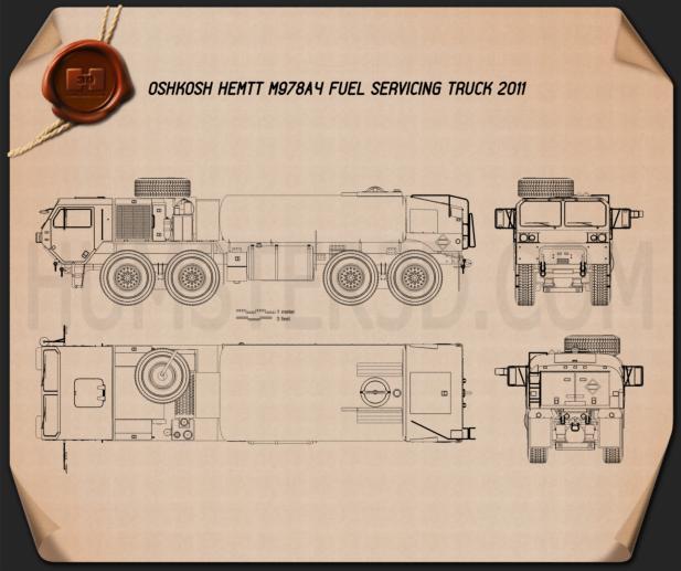 Oshkosh HEMTT M978A4 Fuel Servicing Truck 2011 Plan