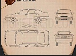 Seat Toledo 1993 Blueprint