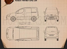 Peugeot Partner Tepee 2011 Blueprint
