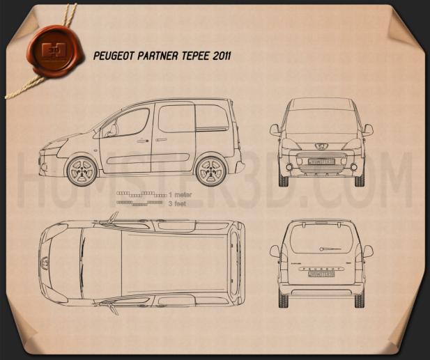 Peugeot Partner Tepee 2011 Blueprint