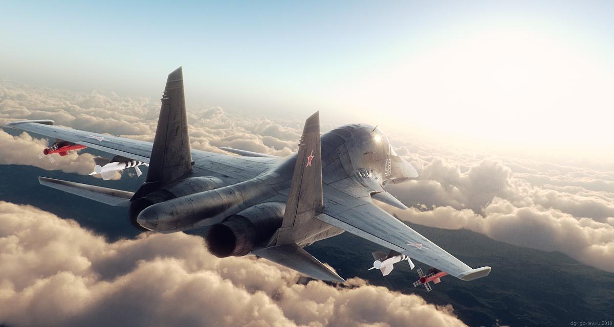 Sukhoi SU-34 by Dmitry Grigorev