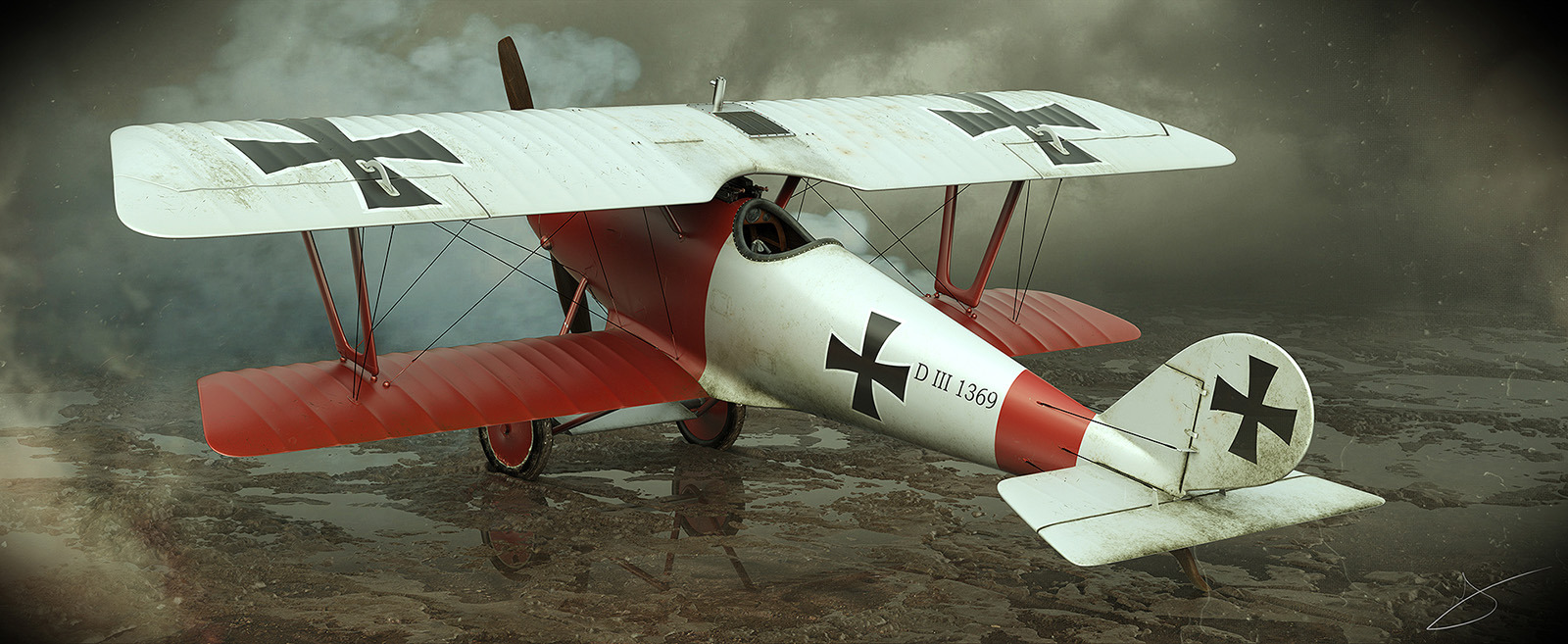 Pfalz D III a First Great Air War airplane