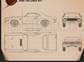 Dodge Challenger hardtop 1970 Blueprint