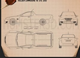 Holden VE Commodore UTE 2012 Blueprint