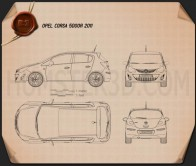 Opel Corsa D 5-door 2011 Blueprint