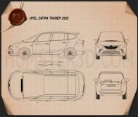 Opel Zafira Tourer 2012 Blueprint