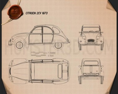 Citroen 2CV Blueprint