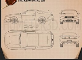 Ford Mustang Boss 302 2012 Blueprint