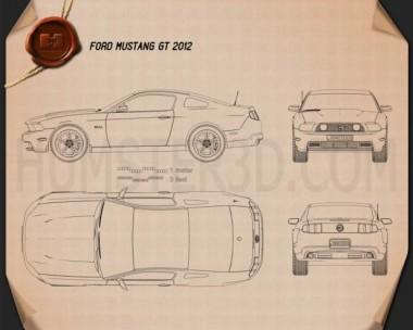 Ford Mustang GT 2012 Blueprint