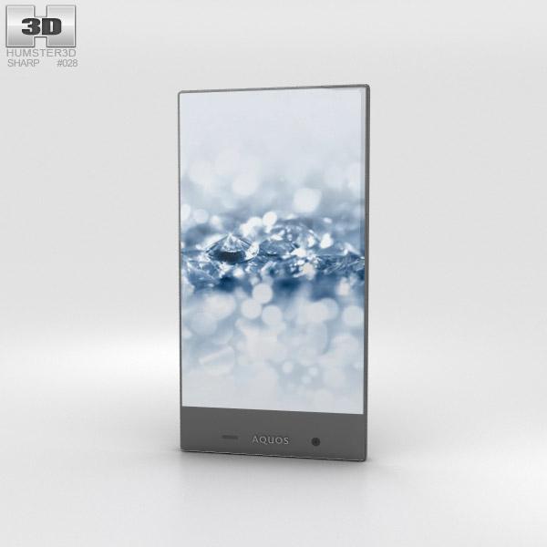 Sharp Aquos Crystal 2 Black 3D model