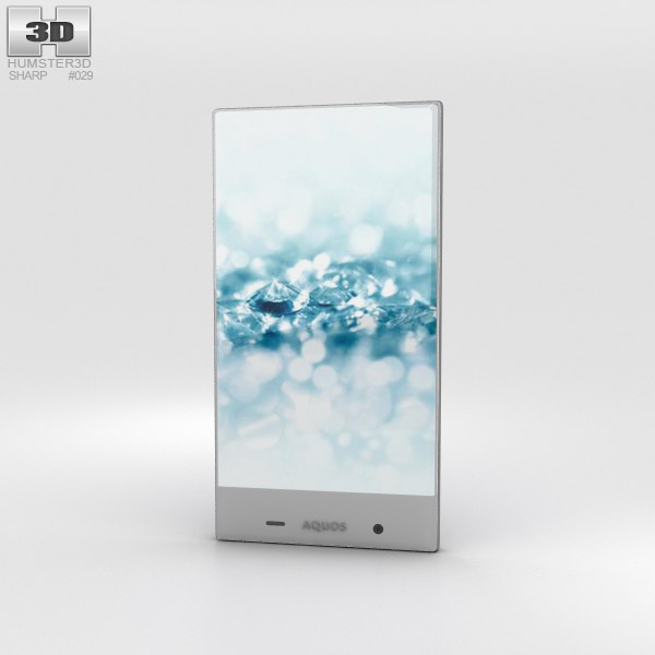 3D model of Sharp Aquos Crystal 2 Blue