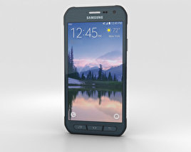3D model of Samsung Galaxy S6 Active Blue