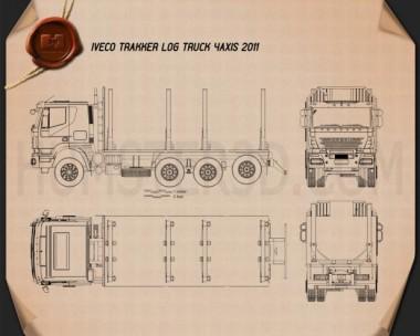 Iveco Trakker Log Truck 2012 Blueprint
