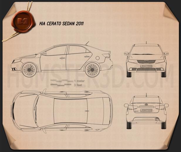Kia Cerato sedan 2011 Blueprint