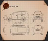 Lexus GX 460 2010 Blueprint