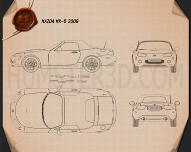Mazda MX-5 2009 Blueprint