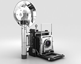 3D model of Graflex Crown Graphic Press Camera