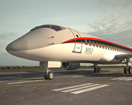 3D model of Mitsubishi Regional Jet 90