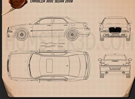 Chrysler 300C sedan 2009 Blueprint