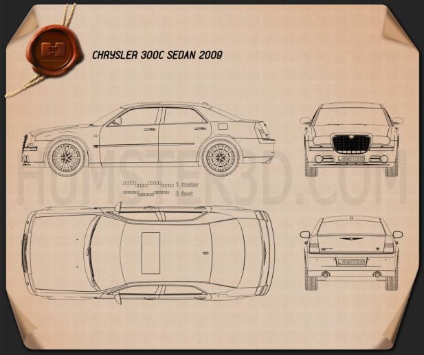 Chrysler 300C sedan 2009 Blueprint