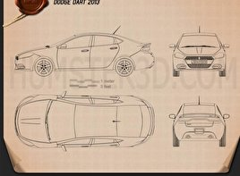 Dodge Dart 2013 Blueprint