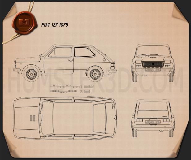 Fiat 127 1975 Blueprint