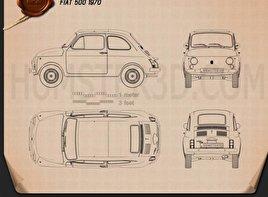 Fiat 500 1970 Blueprint