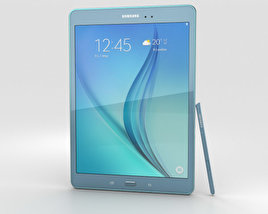 3D model of Samsung Galaxy Tab A 9.7 S Pen Smoky Blue